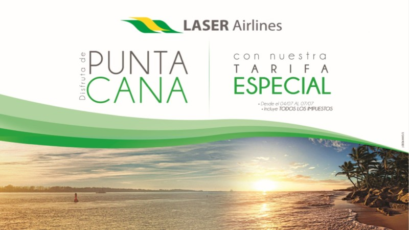 Punta Cana Laser Airlines.